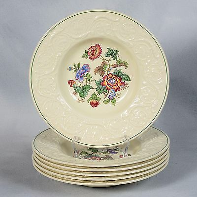 "6 Wedgwood Patrician ""tapestry"" Rimmed Soup Bowls"