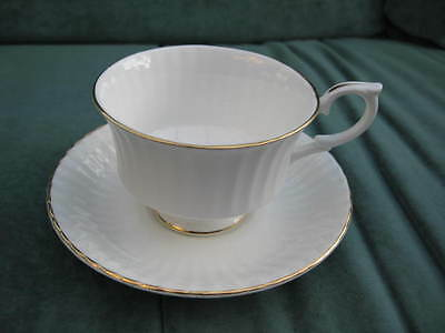 One White With Gold Edges Royal Standard Cup And Saucer