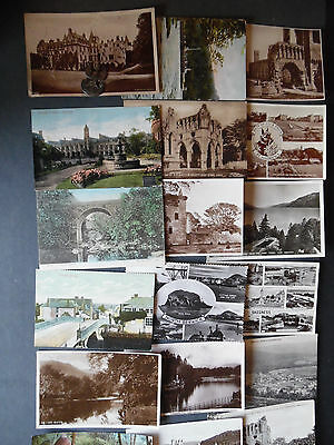 JOB LOT of over 64 scottish Postcards 1900's to 1960's