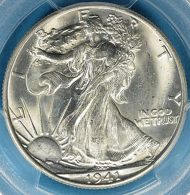 1941-D Walking Liberty Half Dollar PCGS MS65- Strong Luster, Mostly White Gem