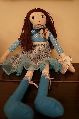 Blue Rag Doll - Large -PERSONALISED Includes Any Name/Message Daughter?