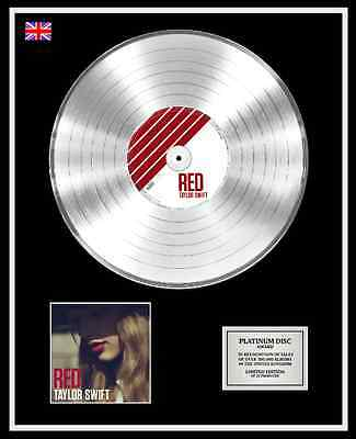 TAYLOR SWIFT Ltd Edition CD Platinum Disc Record RED