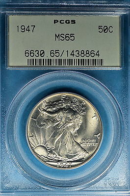 1947 Walking Liberty Half Dollar PCGS MS65-Exceptional Surfaces, Luster, OGH, PQ