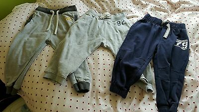 3 pairs Boys tracksuit bottoms 18mths-24mths