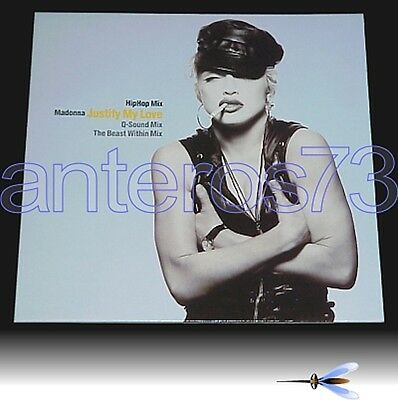 """Madonna """"justify My Love Hiphop Mix"""" Rare 12"""" Germany"""