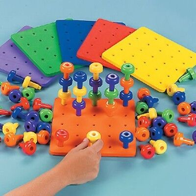 Stack It Pegs And Board Game Educational Fine Motor Autism Occupational Therapy