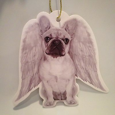 French bulldog gift tags, frenchie, angel wings