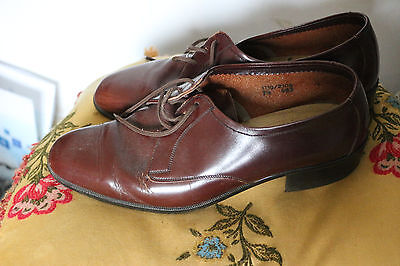Mens Retro / Vintage Style Smart  Tan BROWN LEATHER Shoes Size 7 1/5