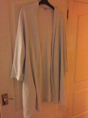 Pale Blue Short Waffle Dressing Gown Size 20-22
