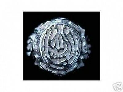 Allah Ring Islamic Muslim Sterling Silver 925 Jewelry