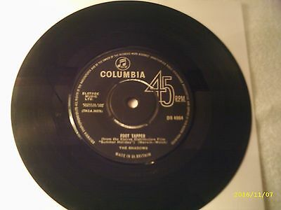 """The Shadows - Foot Tapper - 7"""" Columbia Vinyl Record"""