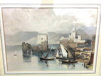 19th Century hand coloured lithograph after Louisa Tenison 1846 by Dickinson&Son