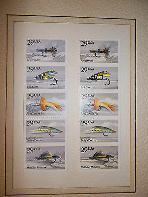 2 Sets of 5 USA Fly (Fishing) Stamps, Unused, 29c?