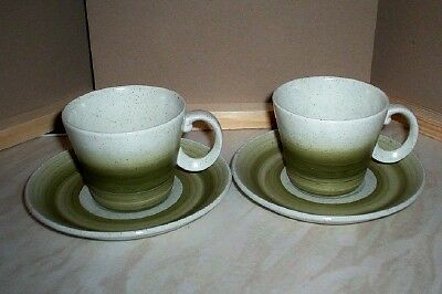 Two  Wood & Sons Pottery Tea Cups And Saucers