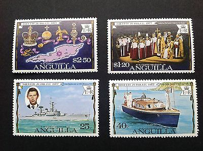 Anguilla 1977 Silver Jubilee Stamps Set Of 4 MNH !