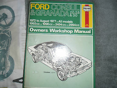 Haynes Manual Ford Consul & Granada 2.0,2.5 & 3.0