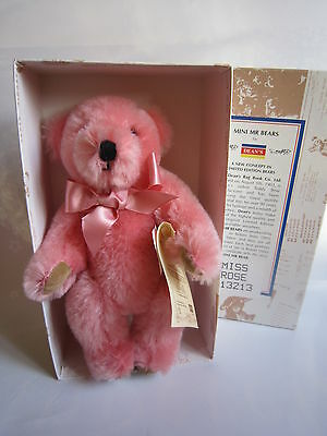 Dean's mohair bear Miss Rose. MIB. Limited. Rare. Fabulous.