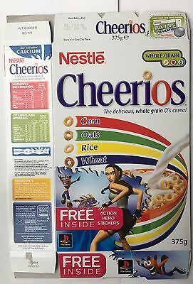 2001 Nestle Cheerios Cereal PlayStation Stickers Lara Craft Packet