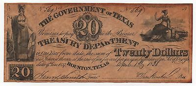 The Government Of Texas 20 Dollars Copy Fake Note Look Scans