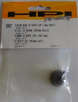 HPI 100917 Pinion Gear 18 Tooth (1M/5MM Shaft) Savage Flux HP