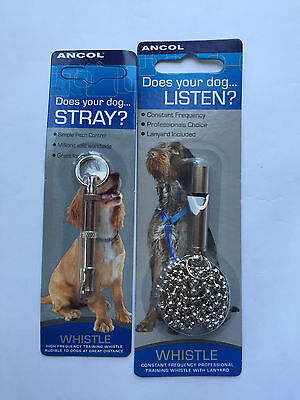 Ancol Dog Whistle - Two Types - Traditional and Constant