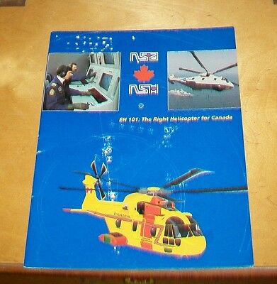 NSA NSH EH101 HELICOPTER The Right Helicopter for Canada BROCHURE. March 1992