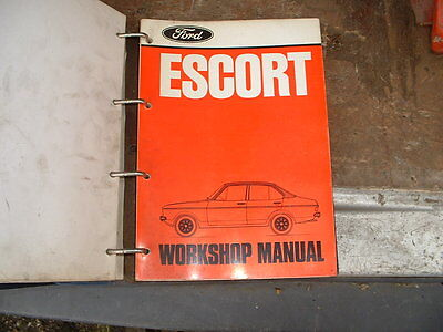 Ford Escort Mk2 GENUINE workshop manual