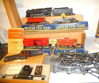 American Flyer - Post-War-  322 Hudson Boxed Freight Set- Exc. - W10