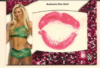 Charlotte 2016 Topps Wwe Then Now Forever Authentic Diva Kiss Card /99