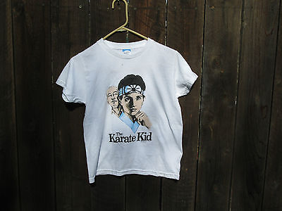 THE KARATE KID Vintage Ralph Macchio Martial Arts 1986 Promo T-Shirt