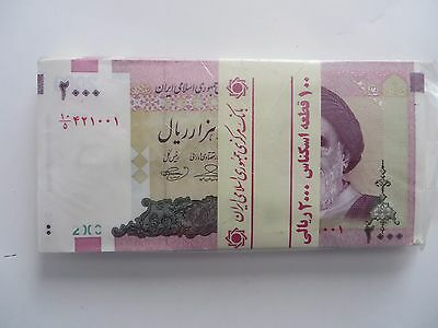 50 x 2000  IRAN Rials, banknotes, Uncirculated Currency Central Bank