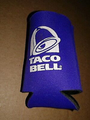 Taco Bell Can Kozzys Can Insulator Purple Bell Logo white