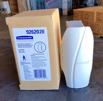 Lot of 12 Kimberly Clark WHITE 92620 Scott  Continuous Air Freshener Dispenser