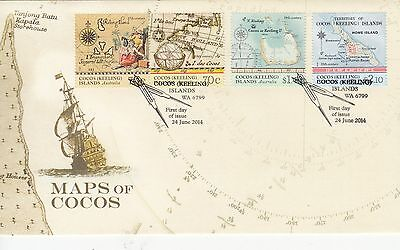 Cocos (Keeling) Isls: 2014 Maps of Cocos First Day Cover.Going cheap