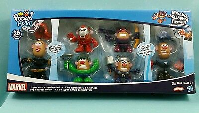 NIB Mr. Potato Head Marvel Avengers Super Heros Assembly Pack Toy Set 28 Pieces
