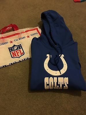 Indianapolis Colts NFL NIKE Team Apparel Hooded Sweatshirt LARGE Andrew Luck