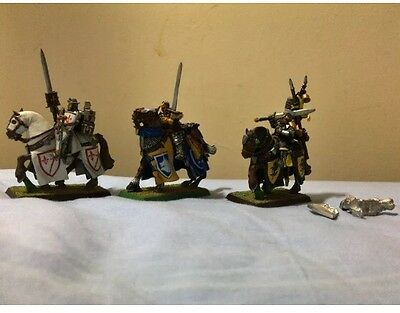 Bretonnia Propainted RARE questing knights Metal Unit Of 3 OOP