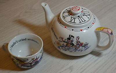 Rare Alice In Wonderland Tea Pot And Cup Lot / Top Quality