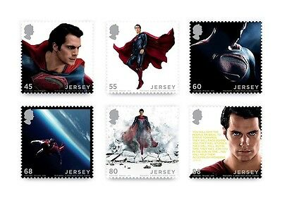 Superman Man Of Steel (2013) Jersey Stamps Full Set Of 6  New Unusual Mnh