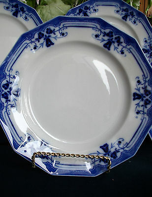 JOHNSON BROTHERS ROYSTON-FLOW BLUE (c.1910) LUNCHEON PLATE(S)-  EXCELLENT!!