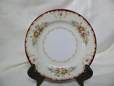 """6 1/4"""" Bread & Butter Plate Kongo China KON10 Red Gold Trim Hand Painted Japan"""