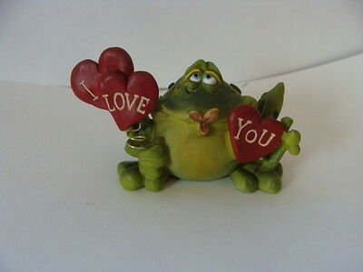 Russ Berrie TOADILY YOURS Series Resin Frog Figure **I LOVE YOU** Douglas