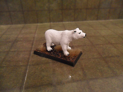 25 / 28mm Un-Painted Polar Bear Animal. Pathfinder Dnd Roleplaying. Minees