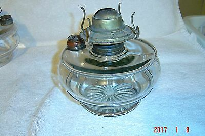 ANTIQUE OIL LAMP font w/ BURNER /  FILL CAP for WALL MOUNT or Ceiling Bracket