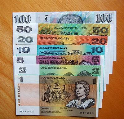 Australia Special Set Of 7 X Decimal Bank Notes -   # 12