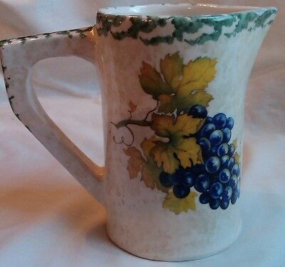 Painted Ceramic Pitcher