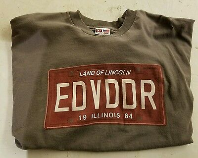 Eddie Vedder T Shirt Land of Lincoln Illinois 2011 Concert. Pearl Jam Singer XL