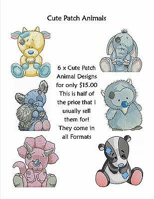 Cute Baby Animals embroidery designs x 6