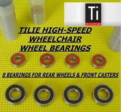 TiLite WHEELCHAIR WHEEL BEARINGS, FULL SET, GENUINE FACTORY REPLACEMENT, (LQQK)
