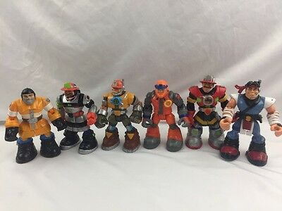 "Lot of 6 Mattel Chunky Rescue Heroes 6"" Action Figures 1999-2004 Fast Shipping"